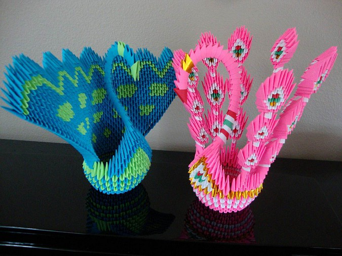 Easy Origami Paper Peacock